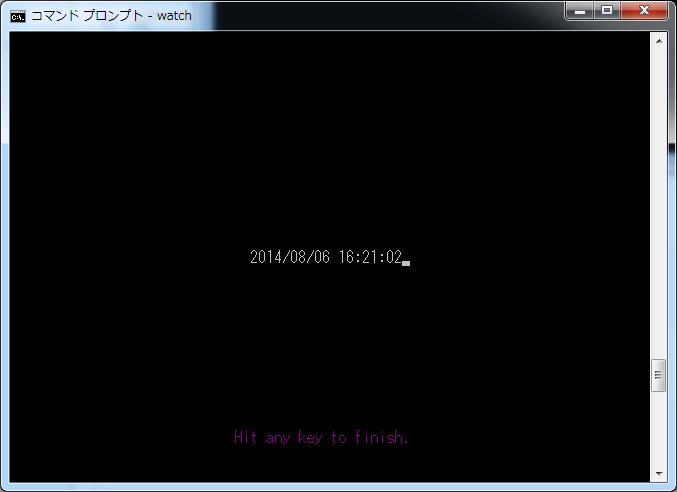 Windows で実行